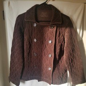 Charter Club quilt stitched Jacket